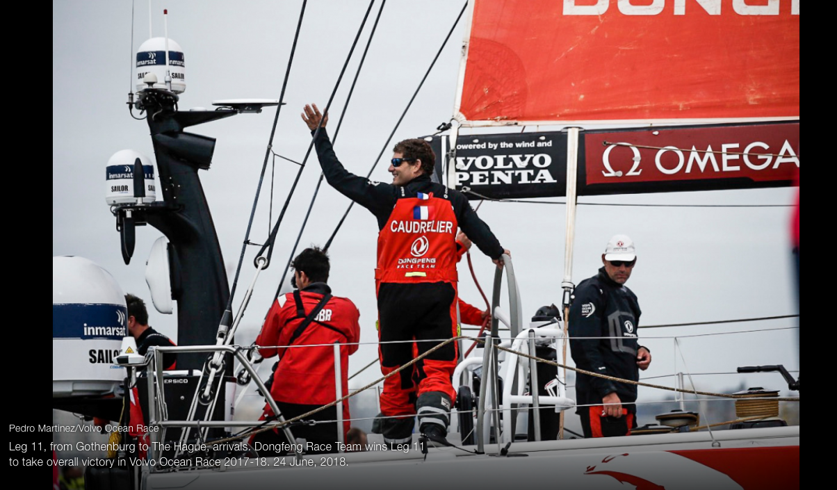 BRAVO A DONGFENG : Une volvo pour Charles Caudrelier et son équipage (Frenchies : Marie Riou, Pasca